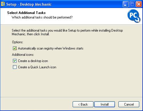 Velg Automatically scan registry when Windows starts